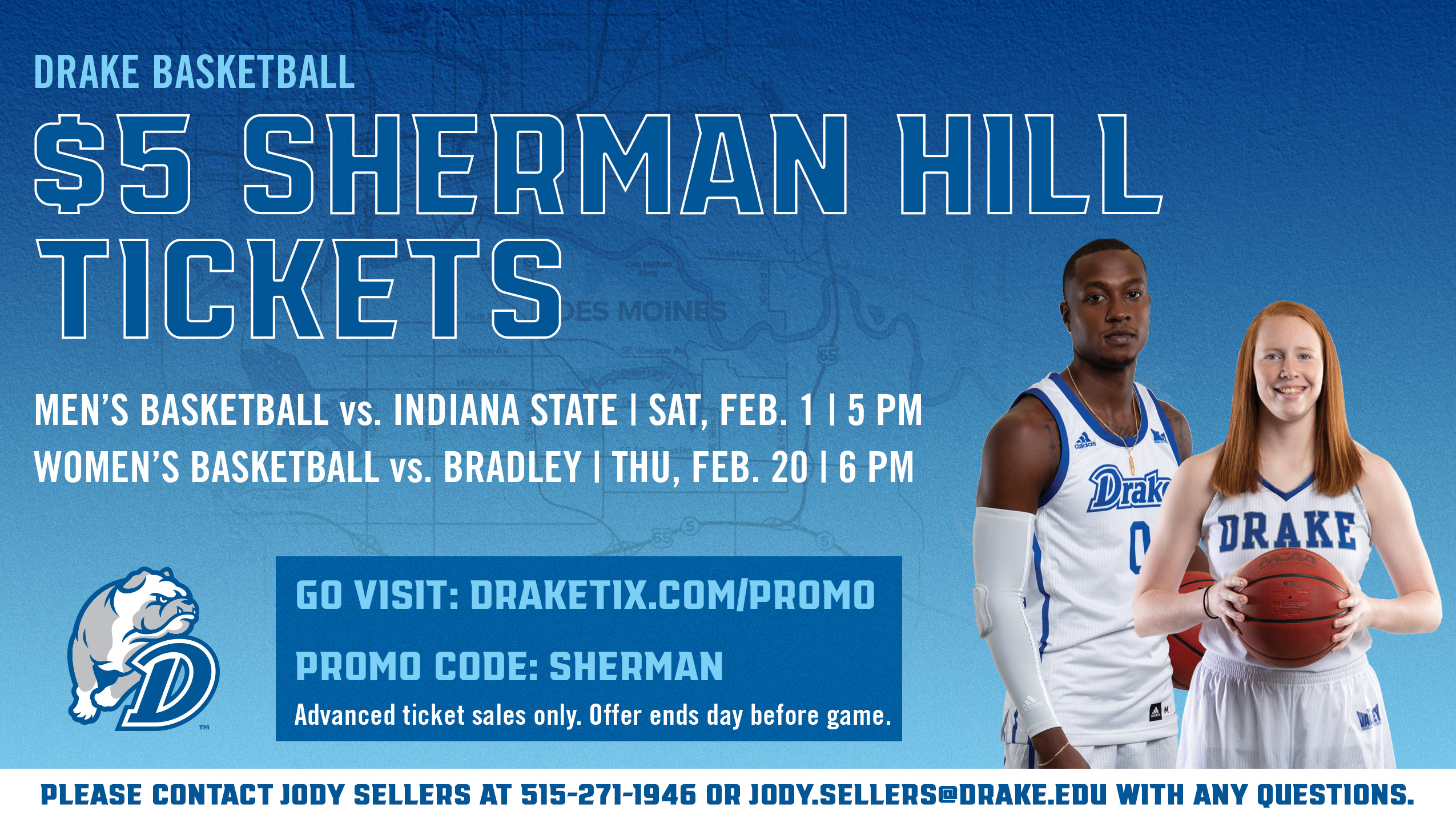 Sherman Hill - Drake Basketball tickets